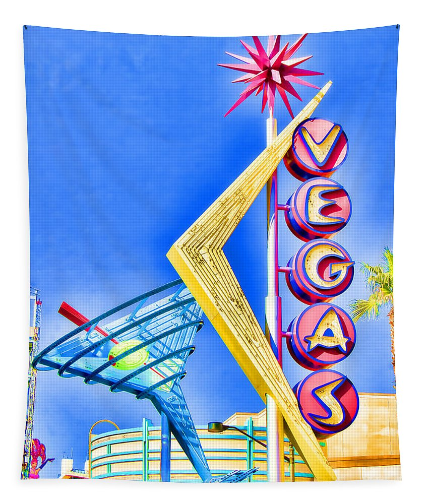 Las Vegas Tapestry featuring the photograph Vegas Street Art by Debby Richards