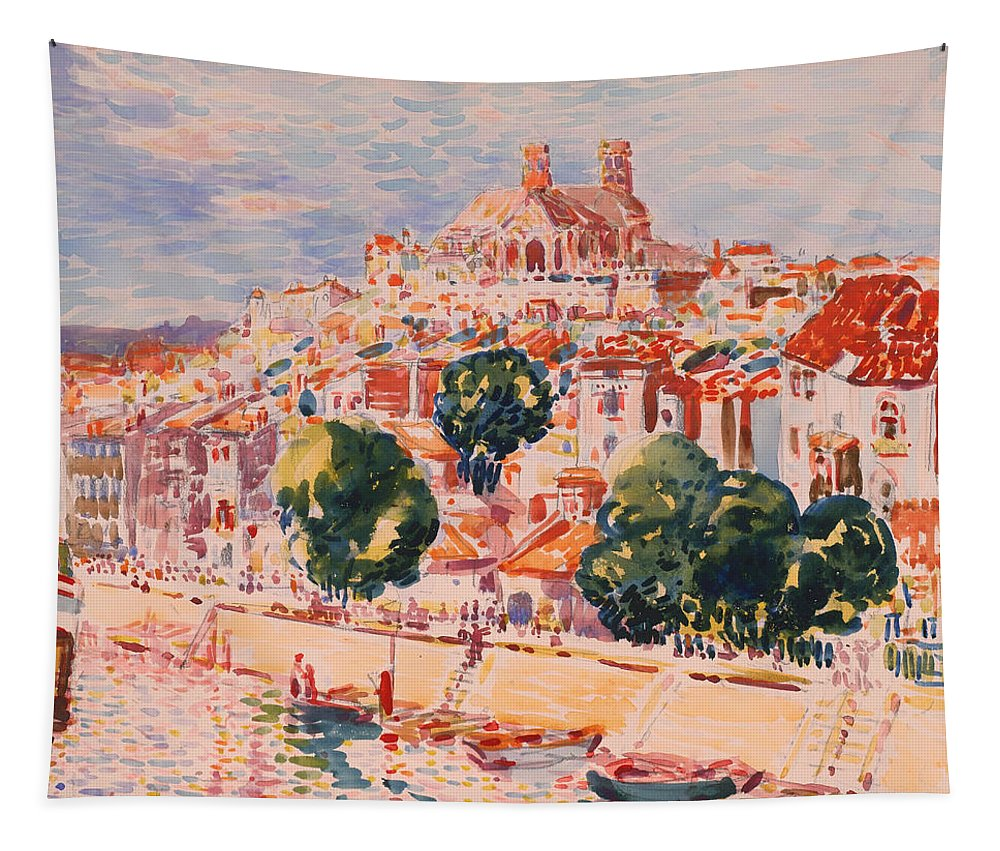 Painting Tapestry featuring the painting Verdun by Mountain Dreams