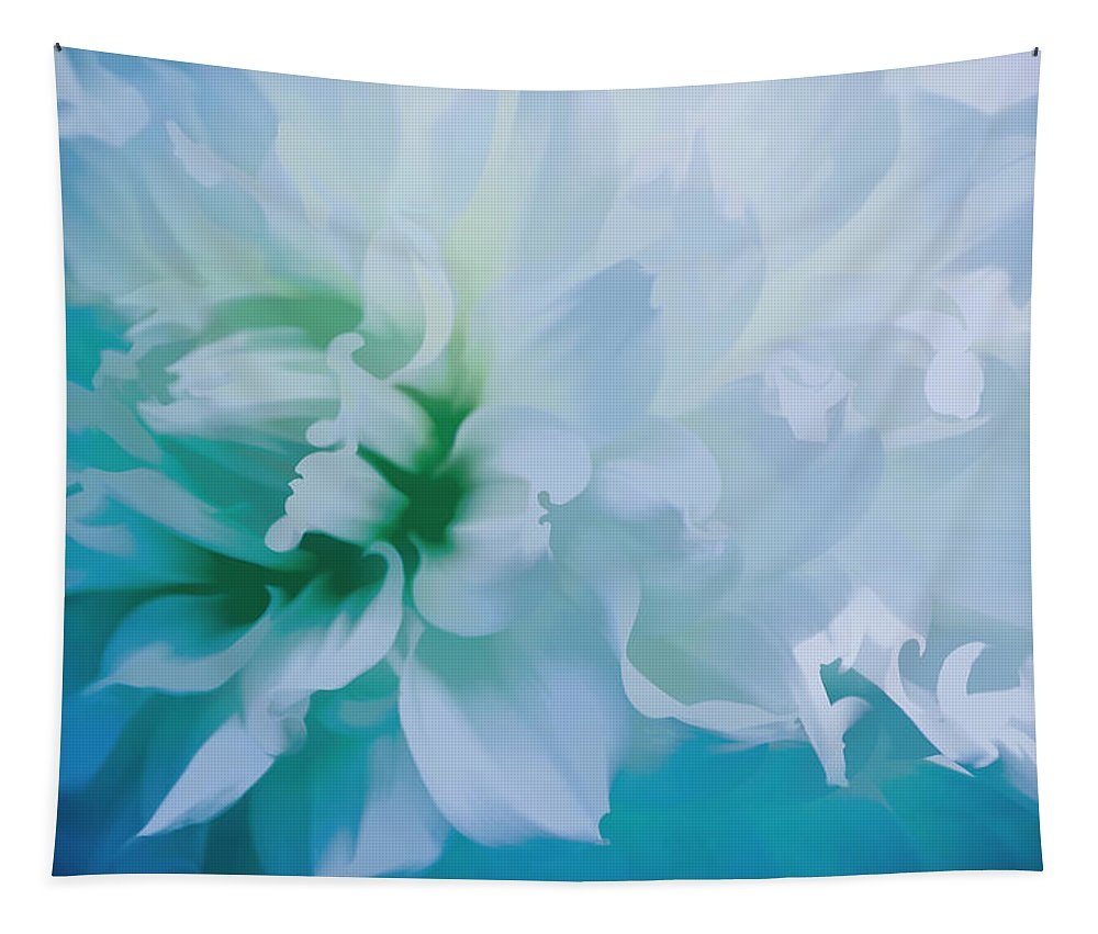 Flower Tapestry featuring the mixed media Very Dreamy by Trish Tritz