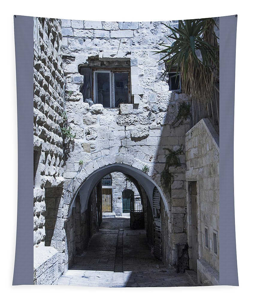 Vintage Tapestry featuring the photograph Very Old City Architecture No 1 by Ben and Raisa Gertsberg