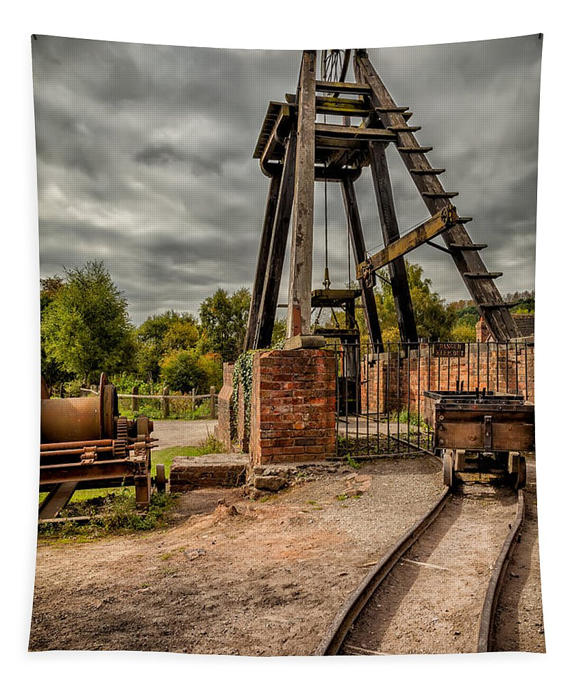 Abandoned Tapestry featuring the photograph Victorian Mine by Adrian Evans