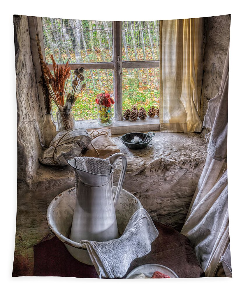British Tapestry featuring the photograph Victorian Wash Area by Adrian Evans