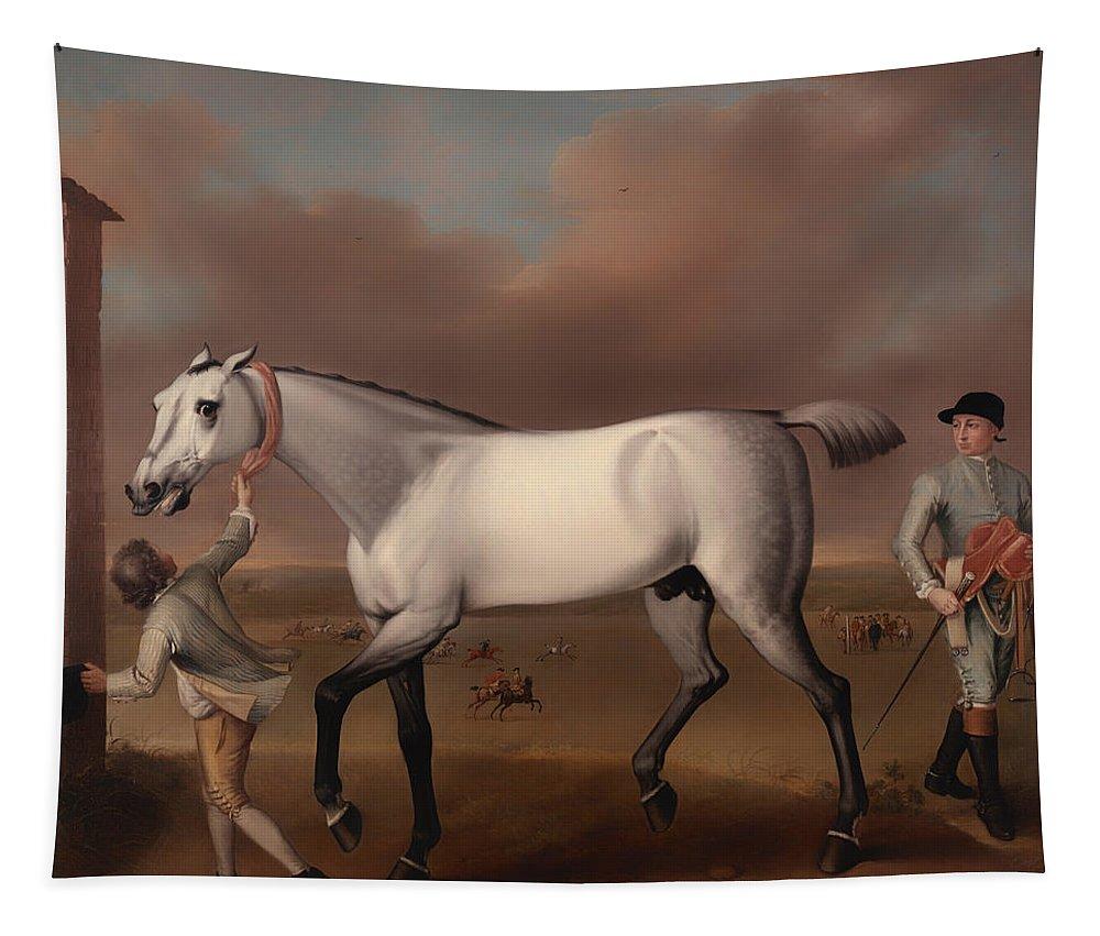 Painting Tapestry featuring the painting Victorious At Newmarket by Mountain Dreams