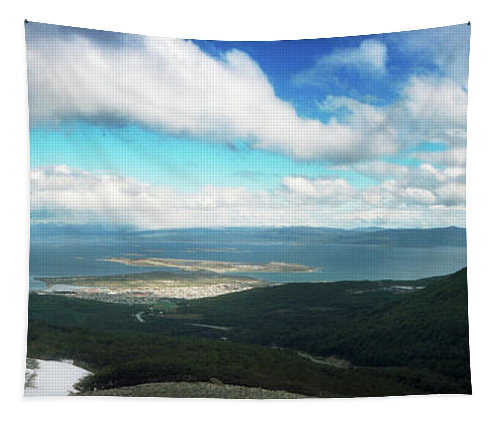 Photography Tapestry featuring the photograph View From Martial Glacier, Ushuaia by Panoramic Images