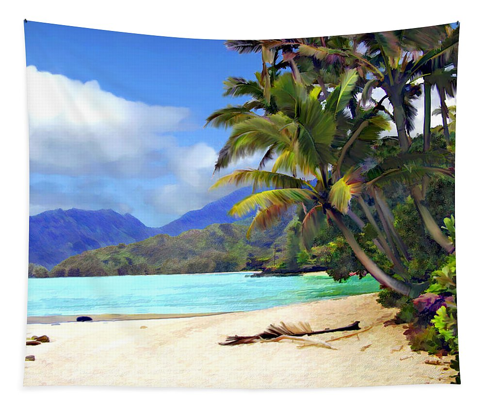 Hawaii Tapestry featuring the photograph View From Waicocos by Kurt Van Wagner