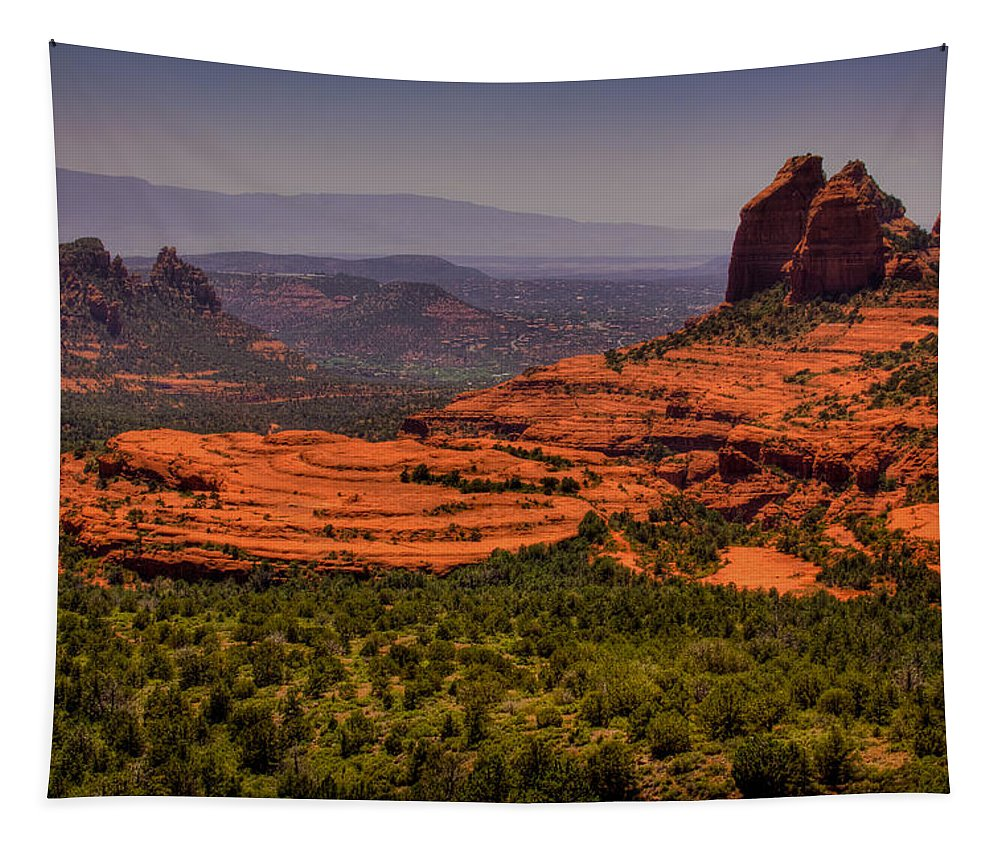 Sedona Tapestry featuring the photograph View Of Sedona From The East by David Patterson