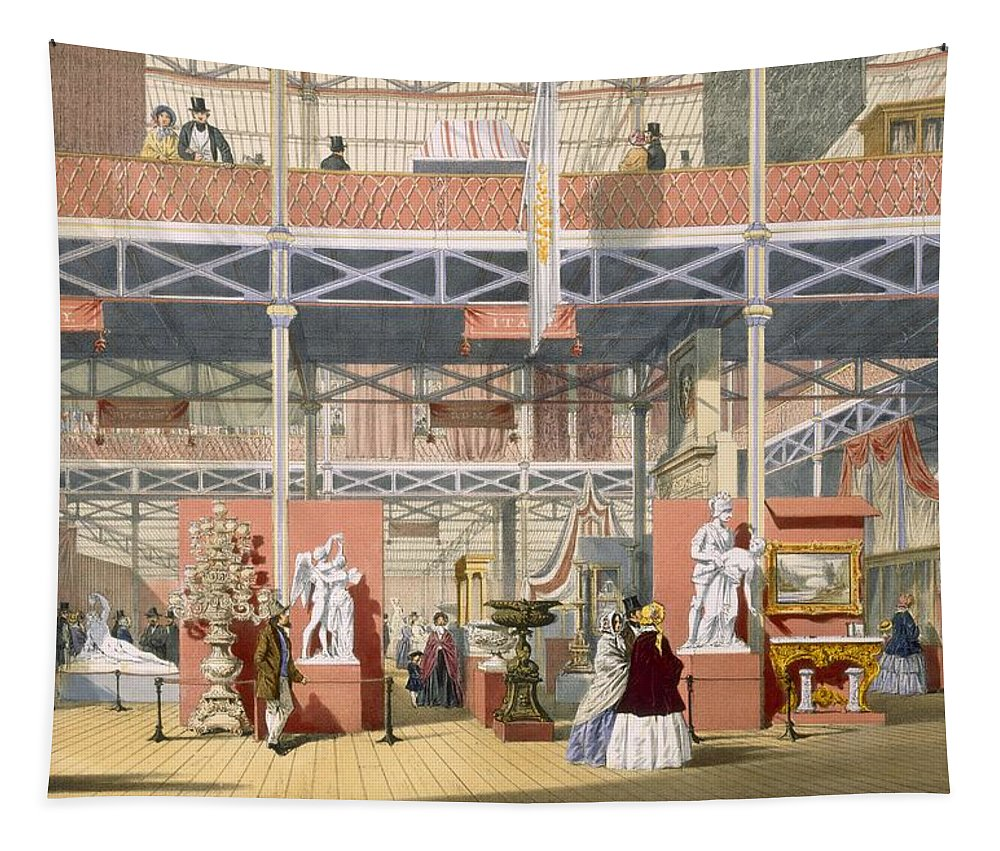 Crystal Palace Tapestry featuring the drawing View Of The Italy Section Of The Great by English School