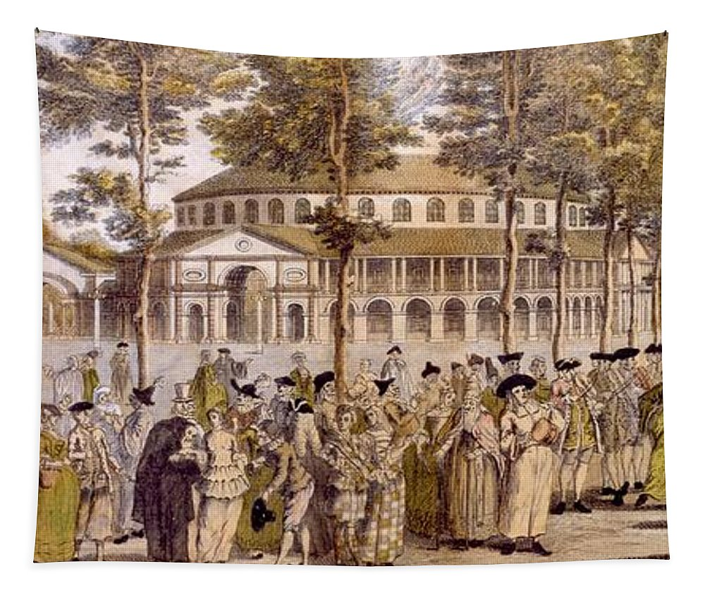 Jubilee Tapestry featuring the drawing View Of The Jubilee Ball, Ranelagh by English School