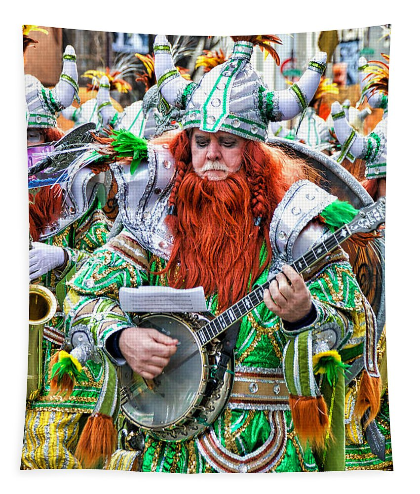 Mummer Tapestry featuring the photograph Viking Mummer by Alice Gipson