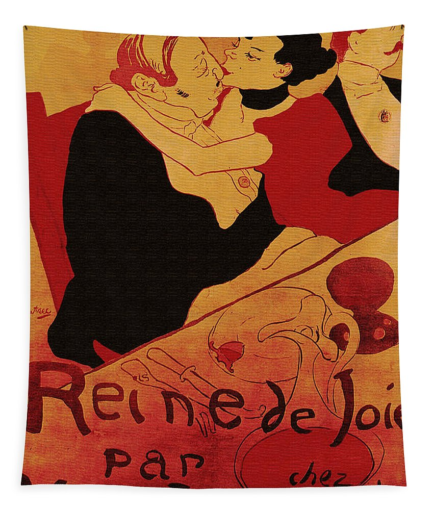 Vintage Tapestry featuring the painting Vintage Art Poster Advertisement Entertainment Toulouse Lautrec 1892 by R Muirhead Art