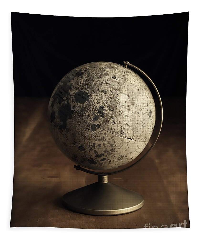 Vintage Tapestry featuring the photograph Vintage Moon Globe by Edward Fielding