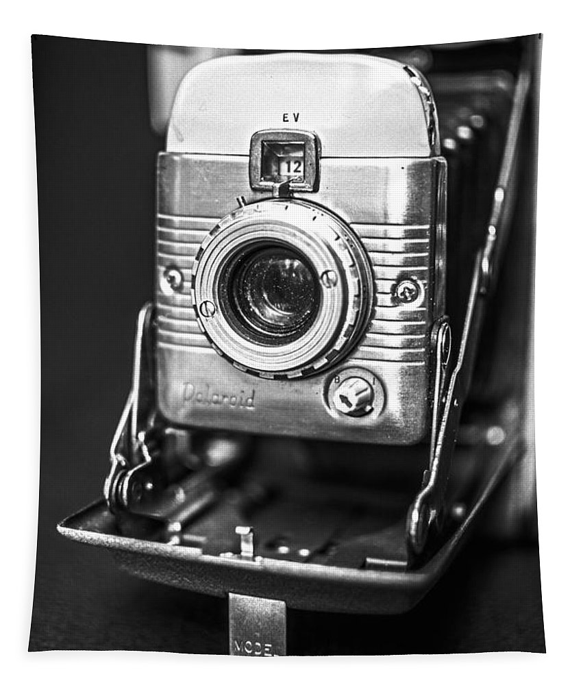 Vintage Tapestry featuring the photograph Vintage Polaroid Land Camera Model 80a by Jon Woodhams