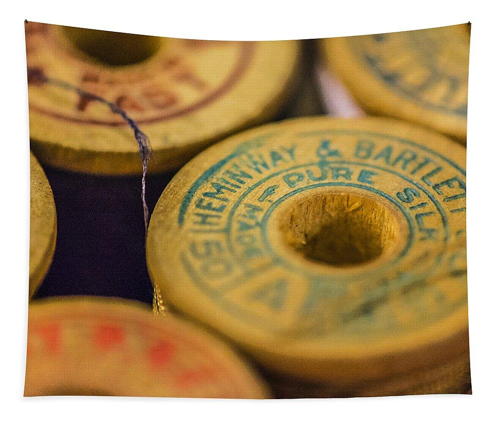 Hemingway & Bartlett Tapestry featuring the photograph Vintage Thread by Jon Woodhams