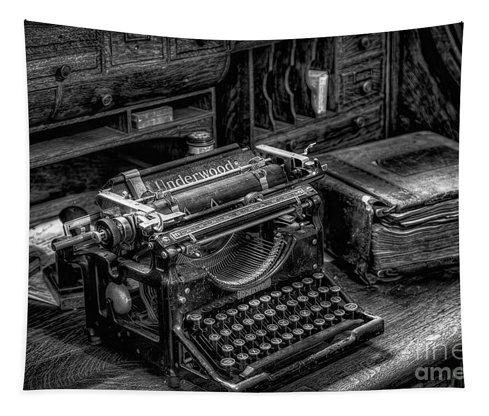 Typewriter Tapestry featuring the photograph Vintage Typewriter by Adrian Evans