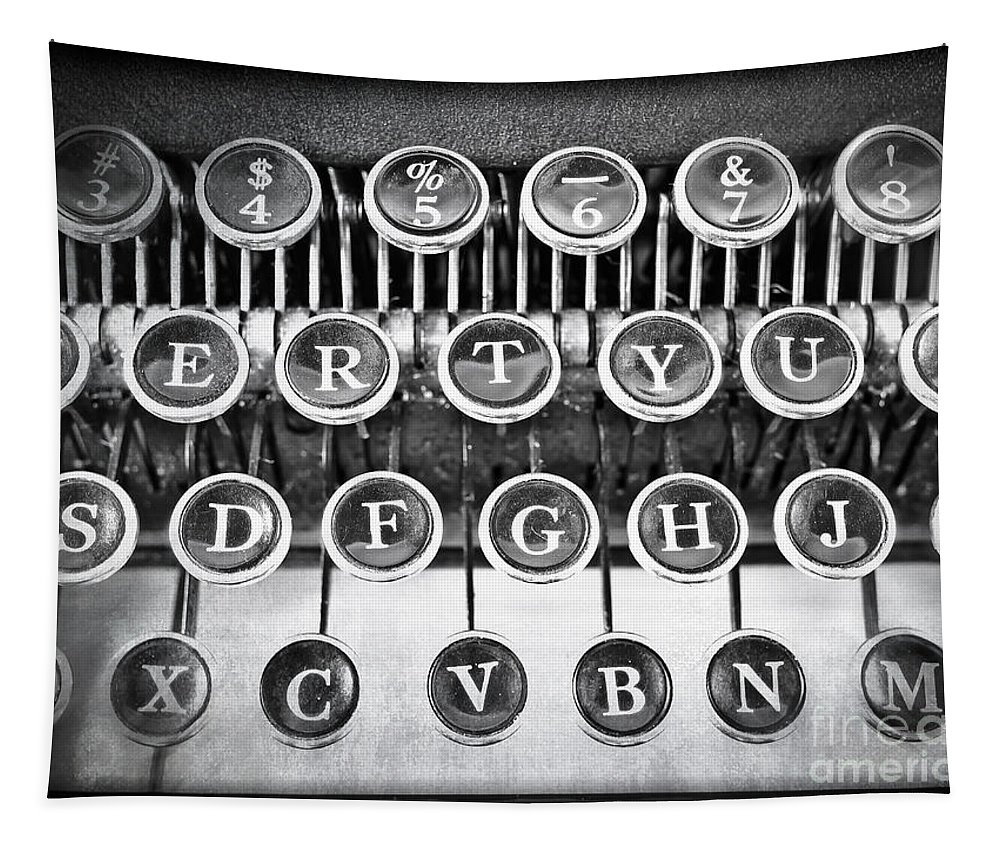 Word Tapestry featuring the photograph Vintage Typewriter by Edward Fielding