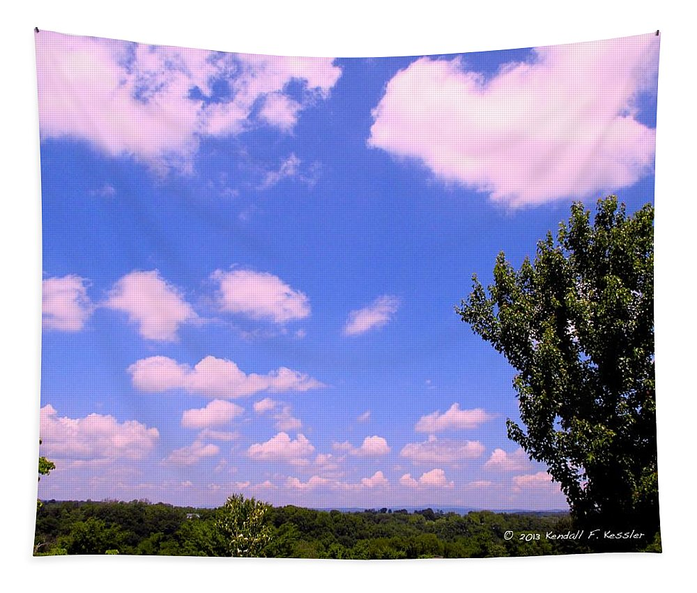 Clouds Tapestry featuring the photograph Violet Edge by Kendall Kessler