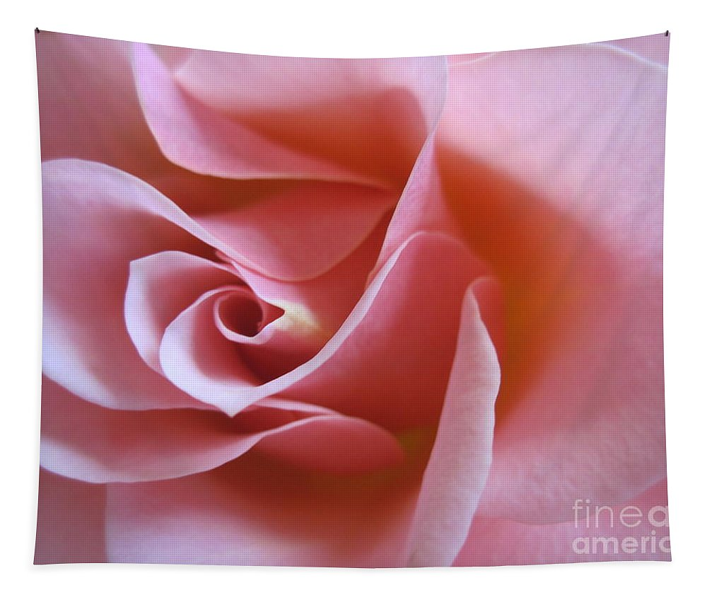 Floral Tapestry featuring the photograph Vivacious Pink Rose 2 by Tara Shalton