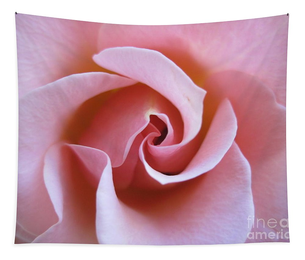 Floral Tapestry featuring the photograph Vivacious Pink Rose 5 by Tara Shalton