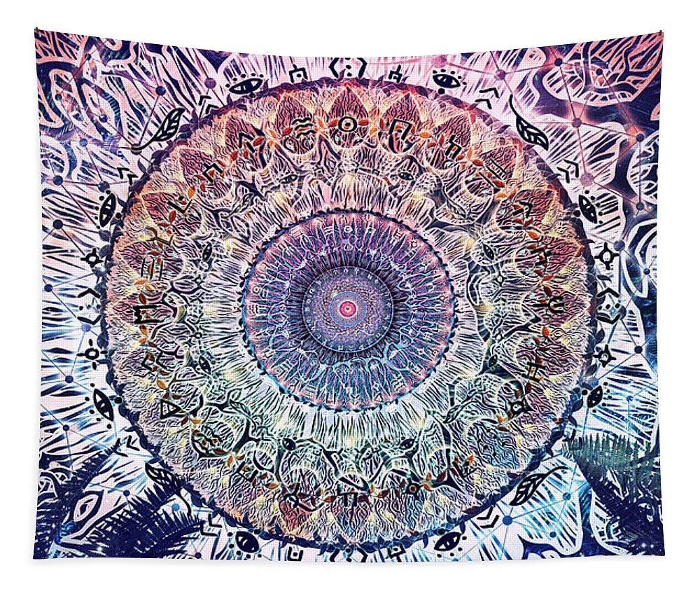 Cameron Gray Tapestry featuring the digital art Waiting Bliss by Cameron Gray