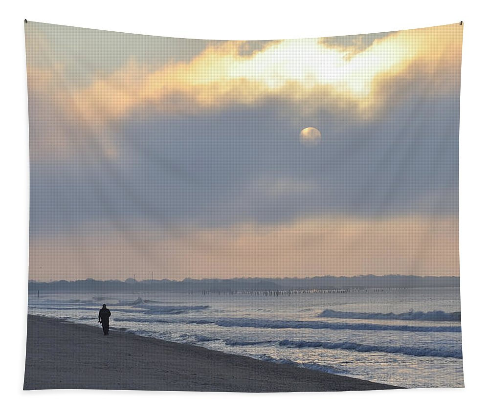 Waiting Tapestry featuring the photograph Waiting For The Sun by Bill Cannon