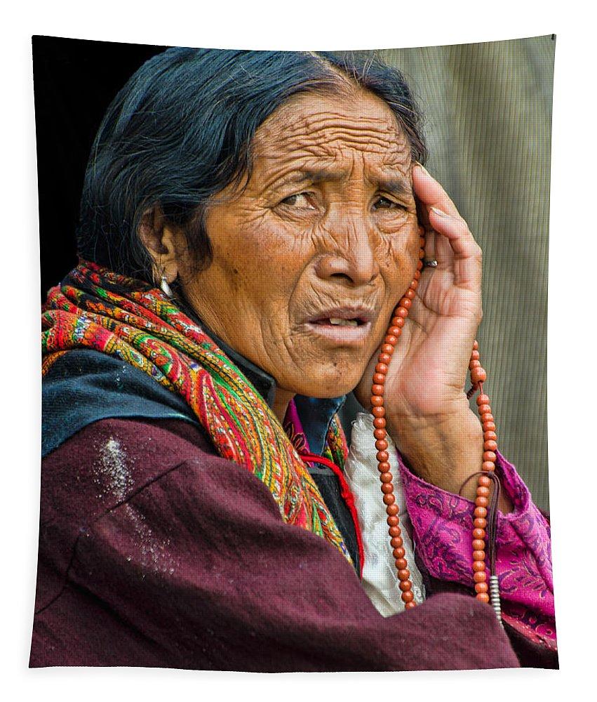 Dalai Lama Tapestry featuring the photograph Waiting In Dharamsala For The Dalai Lama by Don Schwartz