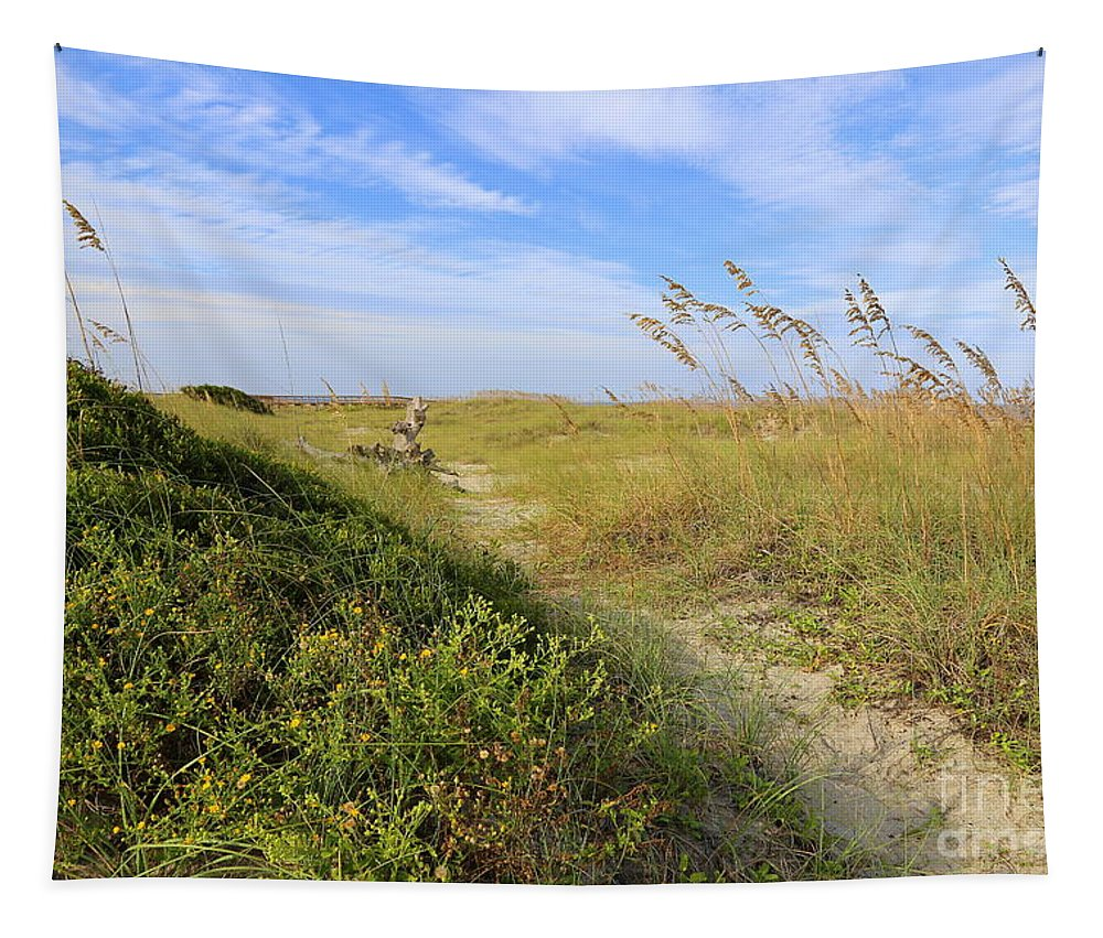 Tybee Island Tapestry featuring the photograph Walk To The Beach by Carol Groenen
