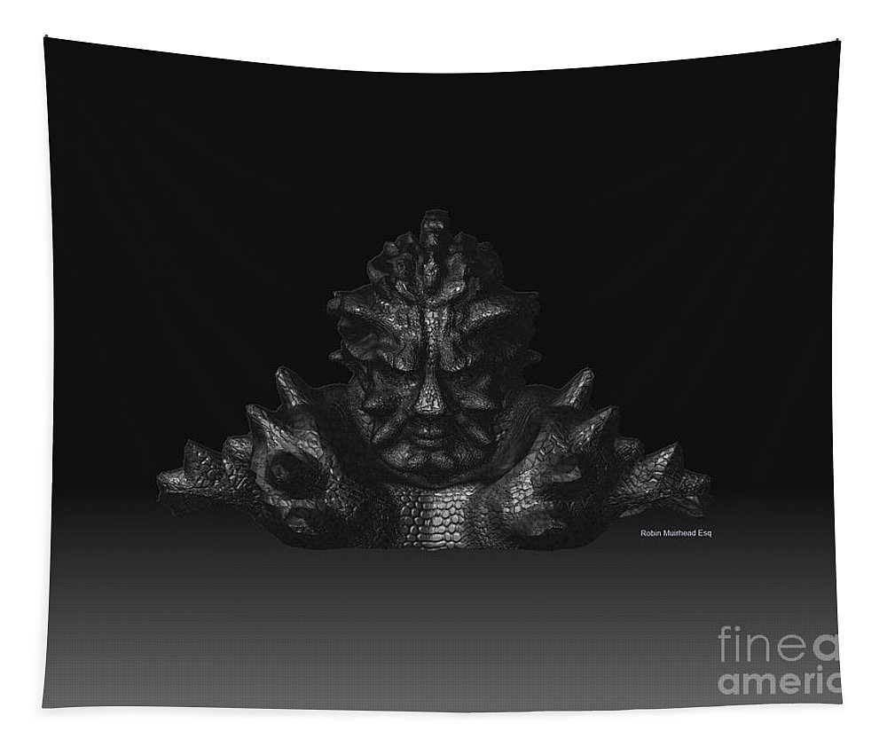 Warlord Tapestry featuring the digital art Warlord by R Muirhead Art