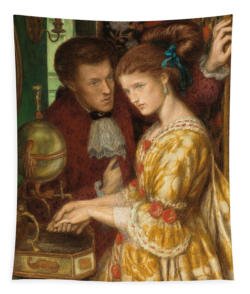 Washing Hands Tapestry featuring the painting Washing Hands by Dante Gabriel Charles Rossetti