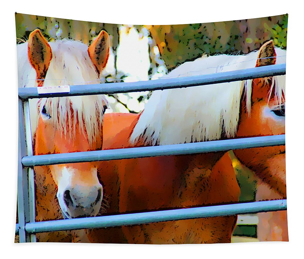 Horses Tapestry featuring the photograph Watching by Alice Gipson