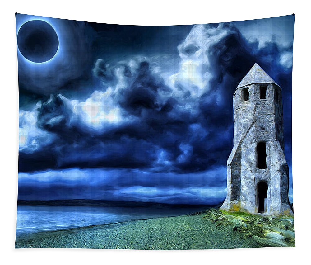 Watchtower Tapestry featuring the painting Watchtower by Dominic Piperata