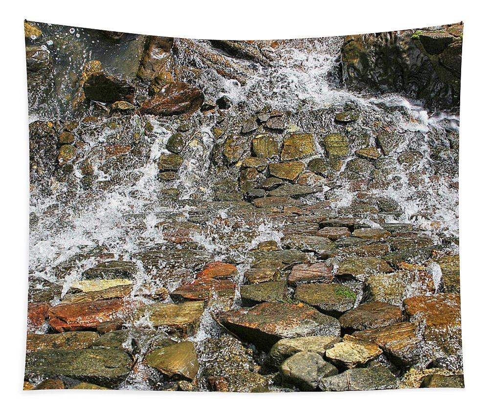 Water Tapestry featuring the photograph Water From A Stone by Bob Slitzan