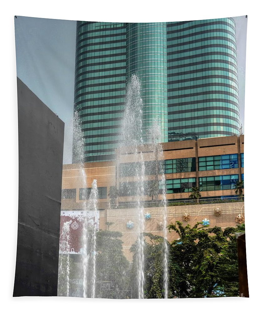 Michelle Meenawong Tapestry featuring the photograph Water Jet by Michelle Meenawong