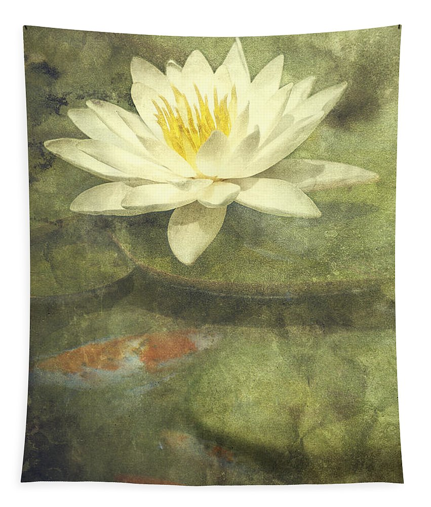 Water Lily Tapestry featuring the photograph Water Lily by Scott Norris