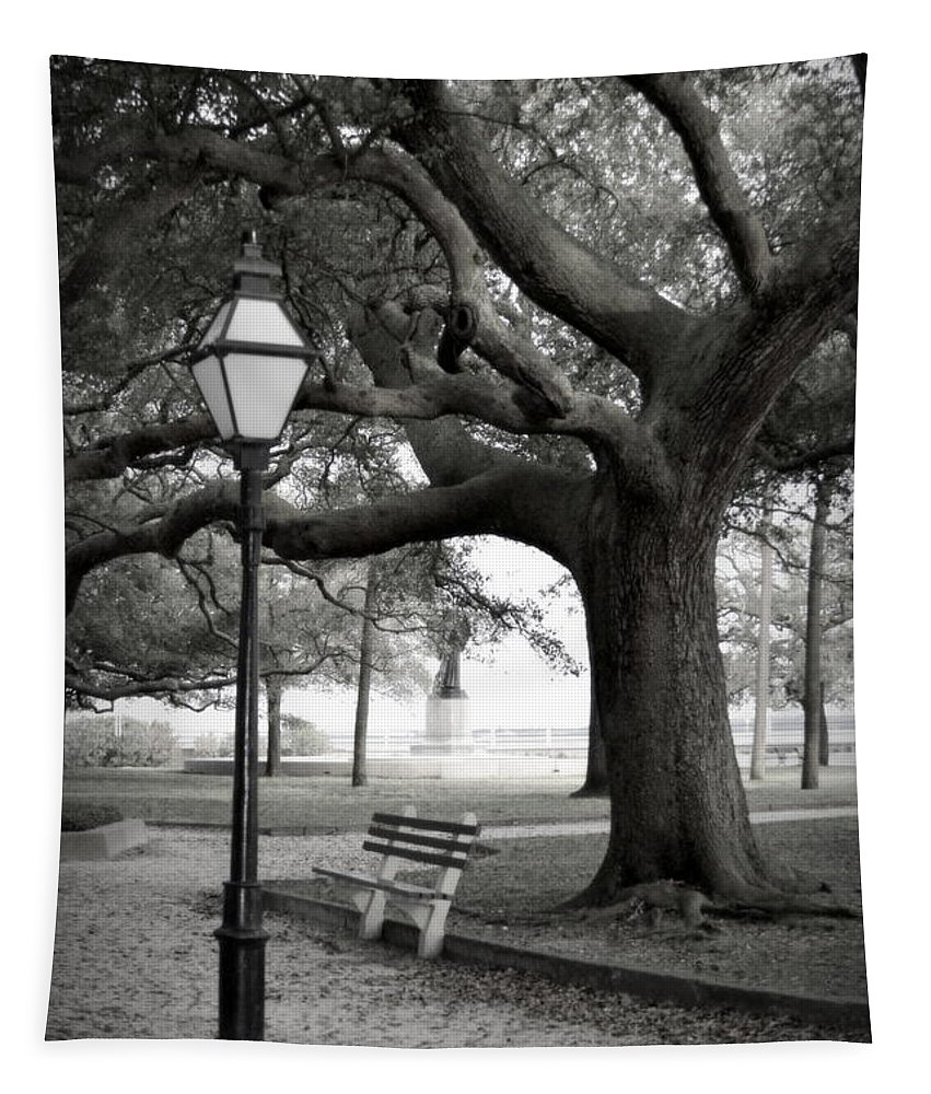 Waterfront Park Tapestry featuring the photograph Waterfront Park by Linda Covino