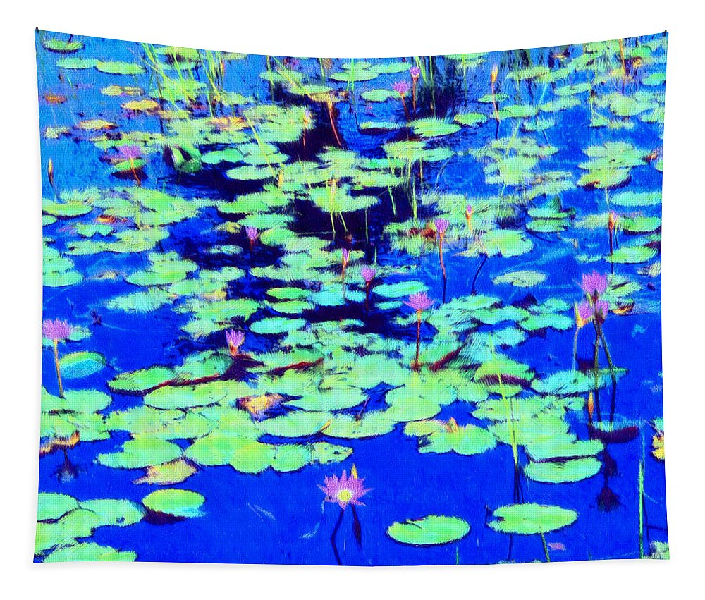 Waterlily Tapestry featuring the painting Waterlilies by Dominic Piperata