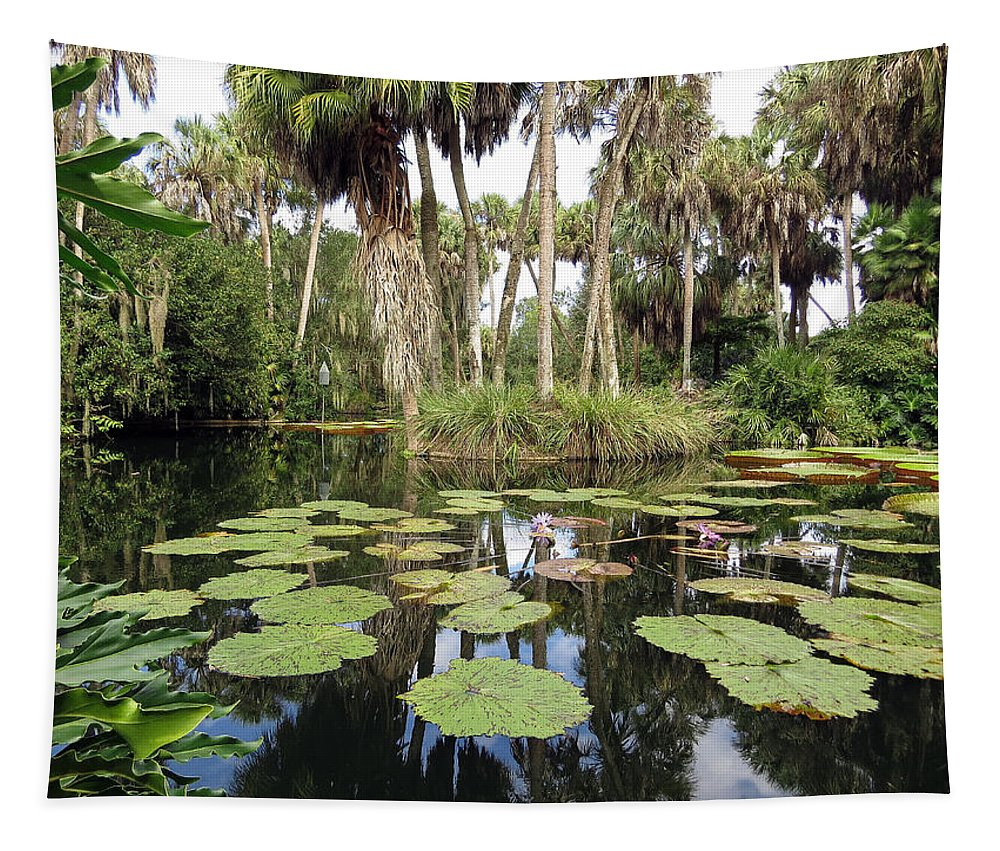 Water Lilies Tapestry featuring the photograph Waterlilies Garden by Zina Stromberg