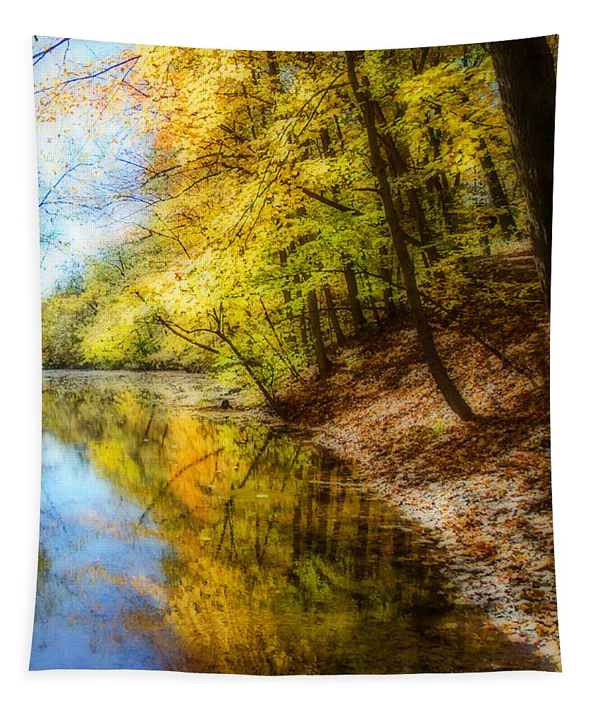Fall Tapestry featuring the photograph Waxen Autumn 3 by Susan McMenamin