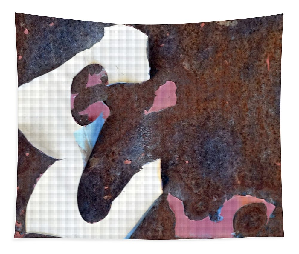 Abstraction Tapestry featuring the photograph Weathered E by Lyric Lucas