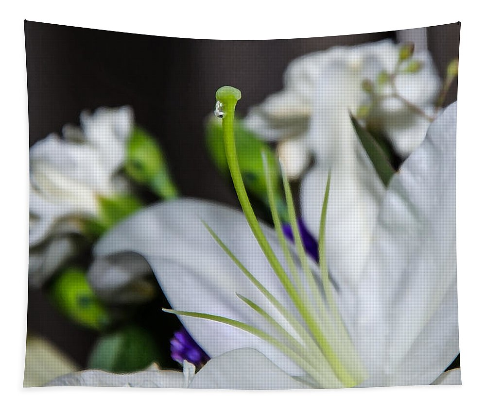 Weeping Lily Tapestry featuring the photograph Weeping Lily by Susan McMenamin