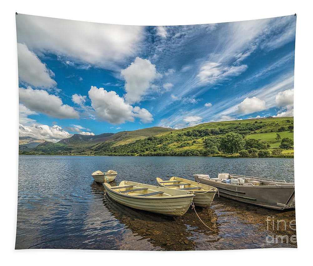 Boat Tapestry featuring the photograph Welsh Boats by Adrian Evans