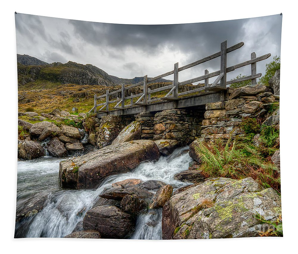 Bridge Tapestry featuring the photograph Welsh Bridge by Adrian Evans