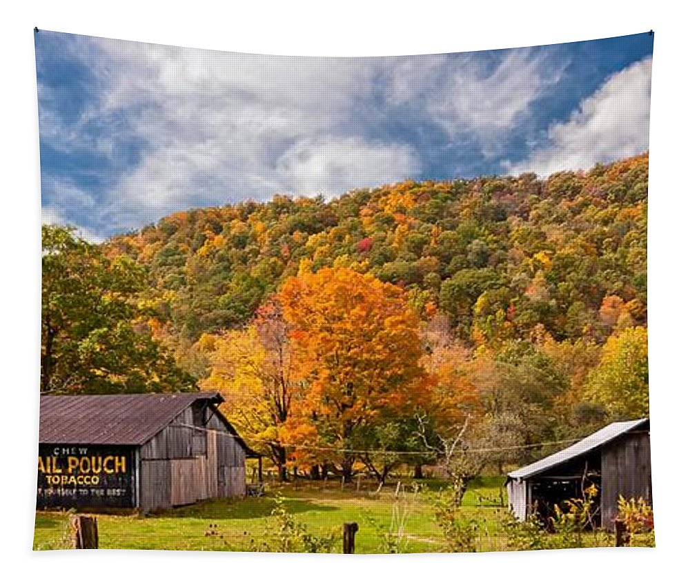 West Virginia Tapestry featuring the photograph West Virginia Barns by Steve Harrington