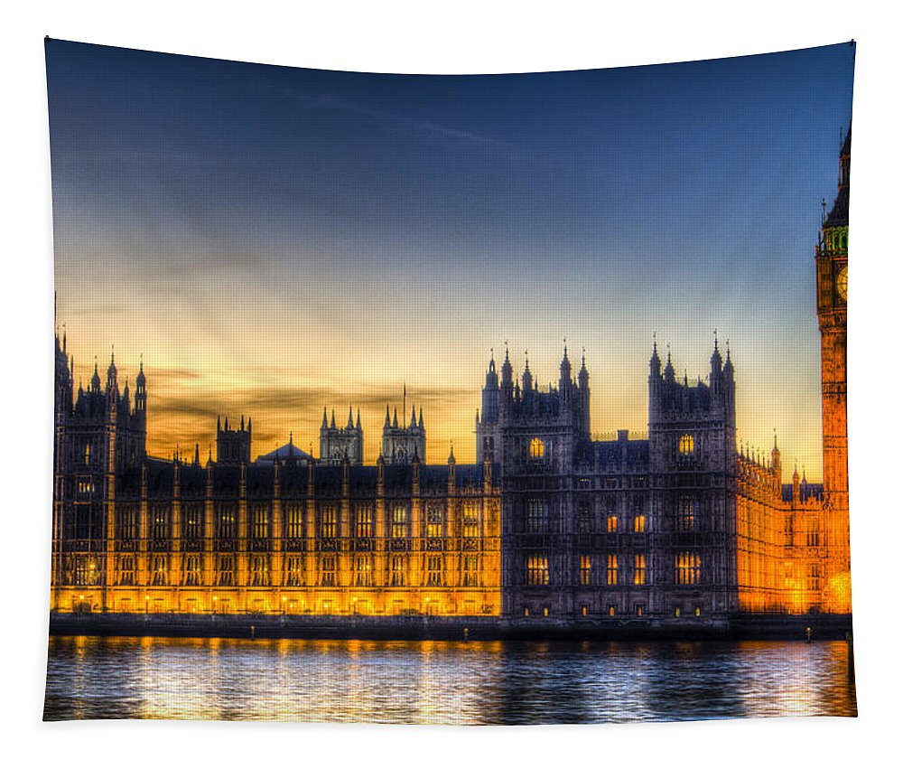 London Tapestry featuring the photograph Westminster London by David Pyatt