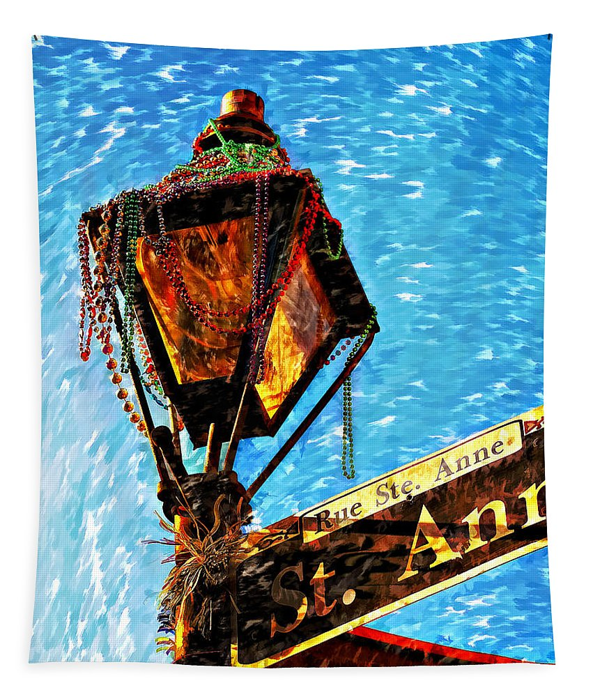 New Orleans Tapestry featuring the photograph What A Party Painted by Steve Harrington