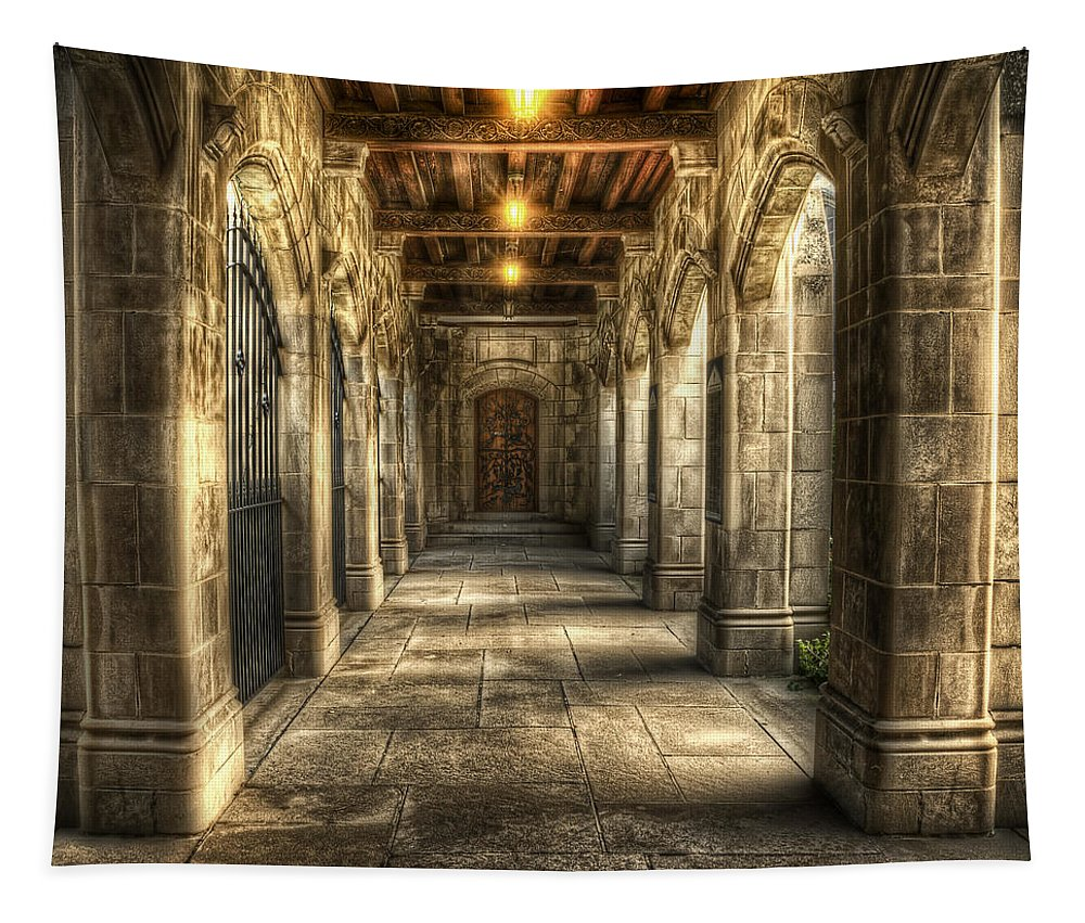 Church Tapestry featuring the photograph What Lies Beyond by Scott Norris