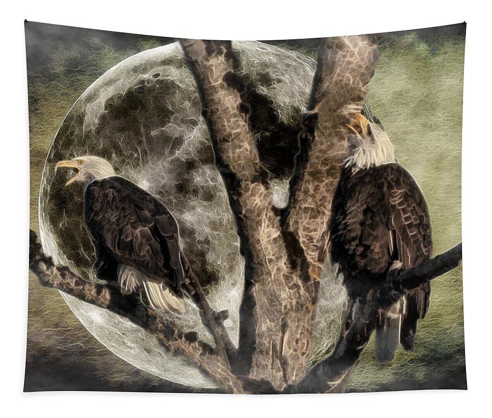When Eagles Sing Tapestry featuring the photograph When Eagles Sing by Wes and Dotty Weber