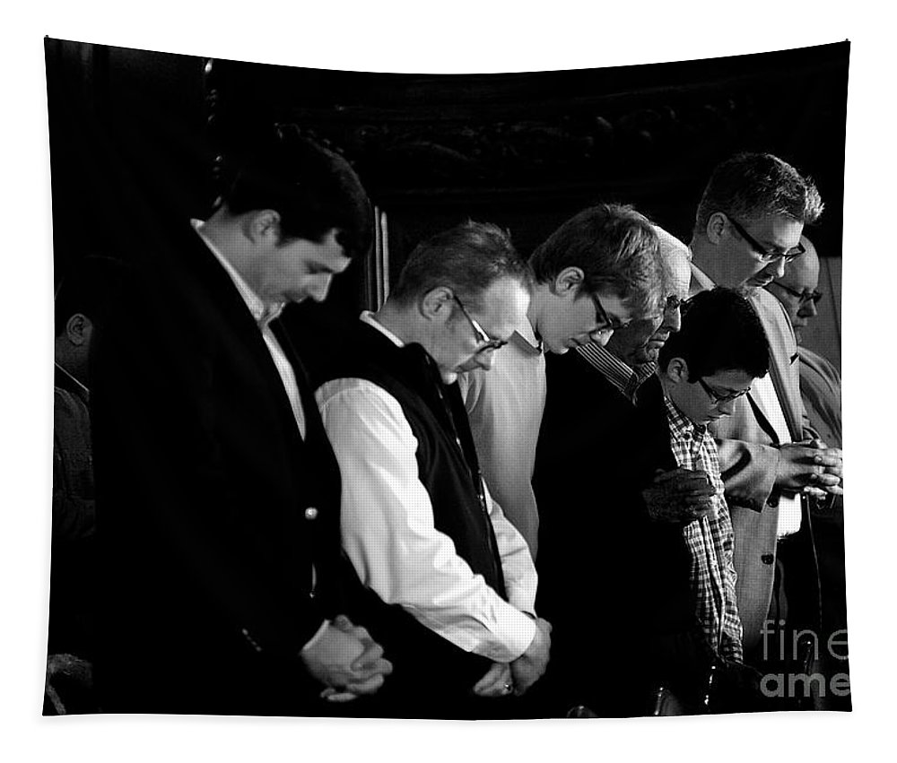 United States Tapestry featuring the photograph When Men Put God First by Frank J Casella