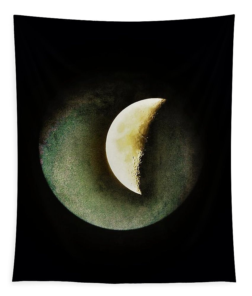 Moon Tapestry featuring the photograph When The Moons Collide by Marianna Mills