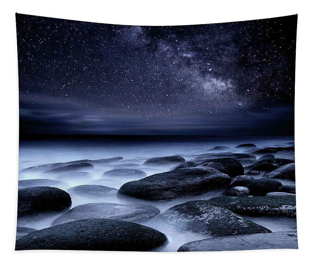 Night Tapestry featuring the photograph Where No One has Gone Before by Jorge Maia