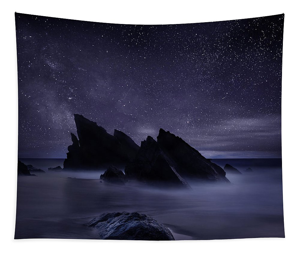 Night Tapestry featuring the photograph Whispers of eternity by Jorge Maia